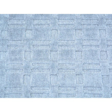 Load image into Gallery viewer, 2'x3' Tone on Tone Grey Wool and Silk Hand Loomed Rug FWR179700