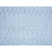 Load image into Gallery viewer, 2'x3' Tone on Tone Grey Hand Loomed Wool and Silk Rug FWR179706