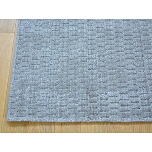 2'x3' Hand Loomed Tone on Tone Wool and Silk Rug FWR179748