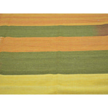 "Load image into Gallery viewer, 8'x10'3"" Colorful Durie Kilim Reversible Flat Weave Hand Woven Rug FWR179958"