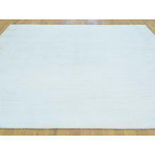 Load image into Gallery viewer, 8'x8' Square Wool and Silk Nepali Modern Hand Knotted Oriental Rug FWR180582