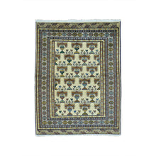 Load image into Gallery viewer, Handmade Tribal and Geometric Ivory Rug
