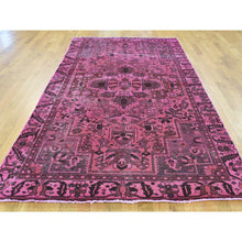 "Load image into Gallery viewer, 5'x9'6"" Handmade Wide Runner Overdyed Persian Bakhtiar Vintage Rug FWR184266"