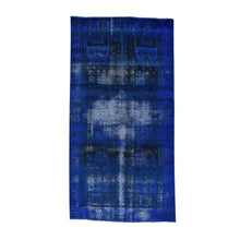 Load image into Gallery viewer, Handmade Overdyed and Vintage Blue Rug
