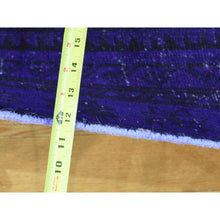 "Load image into Gallery viewer, 3'4""x8'7"" Handmade Overdyed Persian Hamadan Vintage Runner Oriental Rug FWR185388"