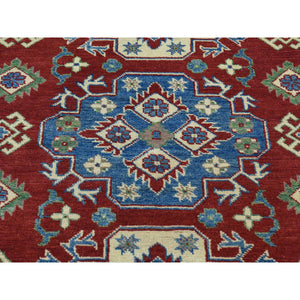 4'x6' Hand-Knotted Kazak Tribal and Geometric Design Oriental Rug FWR187656