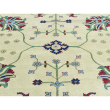"Load image into Gallery viewer, 9'10""x14' Hand-Knotted Kazak Pure Wool Geometric Design Oriental Rug FWR188832"