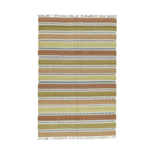 Handmade Flatweave Multicolored Rug
