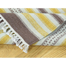 "Load image into Gallery viewer, 2'5""x8' Hand-Woven Pure Wool Flat Weave Striped Durie Kilim Runner Rug FWR191028"