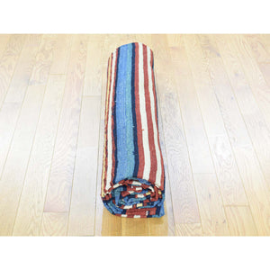 "8'7""x10'3"" Hand-Woven Durie Kilim Flat Weave Pure Wool Striped Rug FWR191076"
