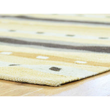 "Load image into Gallery viewer, 3'1""x5'2"" Flat Weave Hand-Woven Reversible Striped Qashqai Kilim Rug FWR191148"