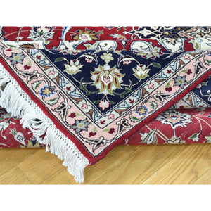 "6'6""x10' Hand-Knotted Persian Tabriz Wool And Silk 400 KPSI Oriental Rug FWR191742"