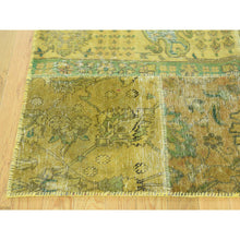 "Load image into Gallery viewer, 9'x11'10"" Persian Overdyed Patchwork Hand-Knotted Vintage Oriental Rug FWR191784"