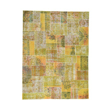 Load image into Gallery viewer, Handmade Overdyed and Vintage Yellow Rug