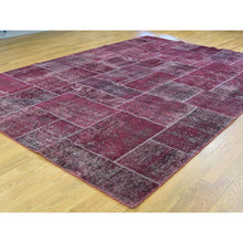 "Load image into Gallery viewer, 9'1""x12'10"" Persian Overdyed Patchwork Handmade Pure Wool Vintage Carpet FWR191826"