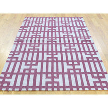 "Load image into Gallery viewer, 4'x6'2"" Hand-Woven Reversible Kilim Geometric Design Flat Weave Rug FWR192096"