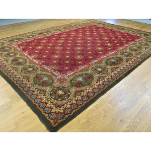 "10'10""x14'5"" Antique European Donegal Pure Wool Oversize Oriental Rug FWR192126"