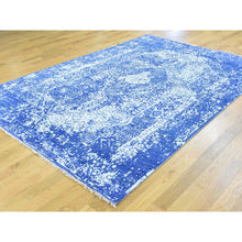 "Load image into Gallery viewer, 6'x8'9"" Wool and Silk Hand-Knotted Broken Persian Design Oriental Rug FWR193098"