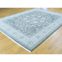 "Load image into Gallery viewer, 8'x10'1"" Silver Wash Serapi Heriz Hand-Knotted Pure Wool Oriental Rug FWR193536"