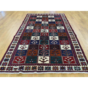 "4'10""x9'2"" Semi Antique Persian Bakhtiari Wide Runner Hand-Knotted Rug FWR193614"