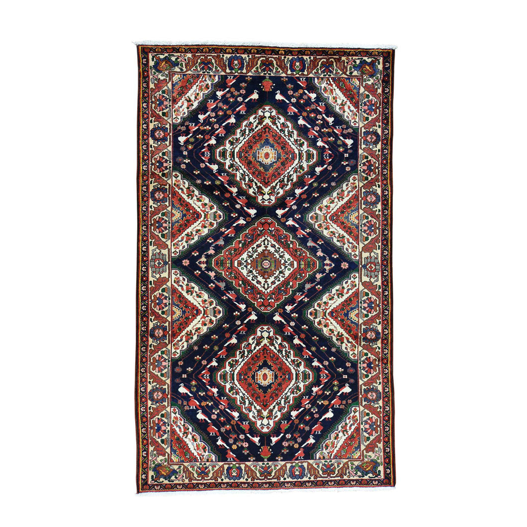 Handmade Persian Blue Rug