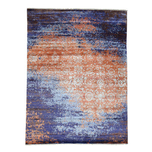 Handmade Modern and Contemporary Multicolored Rug
