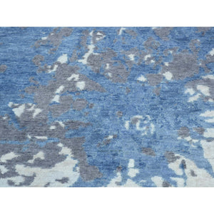 6'x9' Hand-Knotted 100 Percent Wool Splash Abstract Design Carpet FWR195456