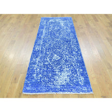 "Load image into Gallery viewer, 2'5""x7'6"" Wool and Silk Hand-Knotted Broken Persian Design Runner Rug FWR195480"