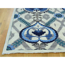"Load image into Gallery viewer, 10'x13'9"" Hand-Knotted Arts And Crafts Design Pure Wool Oriental Rug FWR197646"