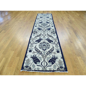 "2'7""x12'1"" Hand-Knotted Arts And Crafts William Morris Design Runner Rug FWR198318"