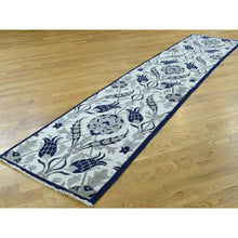 "Load image into Gallery viewer, 2'7""x12'1"" Hand-Knotted Arts And Crafts William Morris Design Runner Rug FWR198318"