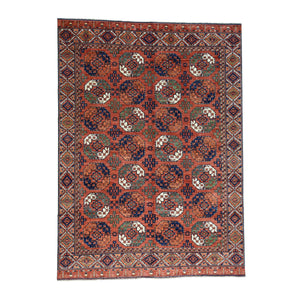 Handmade Tribal and Geometric Red Rug
