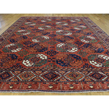 "Load image into Gallery viewer, 9'10""x13'6"" Handmade Pure Wool Ersari Turkoman Elephant Feet Design Rug FWR200670"
