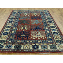 "Load image into Gallery viewer, 5'1""x8'2"" Hand-Knotted Turkoman Ersari 100 Percent Wool Oriental Carpet FWR200682"