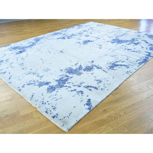 "8'8""x11'10"" Broken Design Wool and Silk Hand-Knotted Oriental Rug FWR201330"