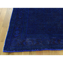 "Load image into Gallery viewer, 5'1""x10' Hand-Knotted Pure Wool Overdyed Sarouk Worn Wide Runner Rug FWR201726"