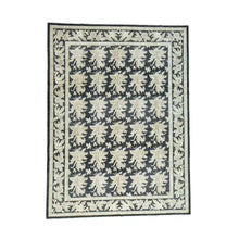 Load image into Gallery viewer, Handmade Oushak And Peshawar Black Rug