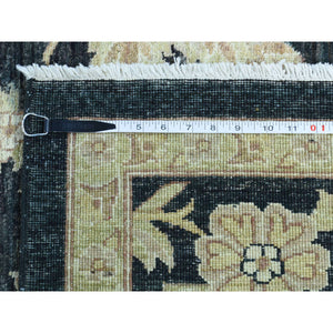 "9'1""x12'4"" Dense Weave Peshawar With Flower Design Hand-Knotted Rug FWR202656"