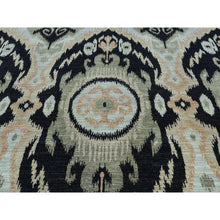 "Load image into Gallery viewer, 9'1""x13' 100 Percent Wool Ikat Uzbek Design Hand-Knotted Oriental Rug FWR202662"