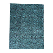 Load image into Gallery viewer, Handmade Modern and Contemporary Teal Rug