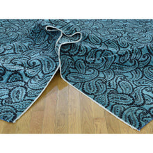 "Load image into Gallery viewer, 9'4""x12'3"" Hand-Knotted Paisley Design Dense Weave Art Silk Rug FWR202716"