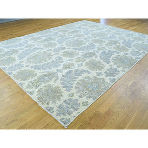"9'1""x12' Hand-Knotted Peshawar With Leaf Design Pure Wool Oriental Rug FWR202740"