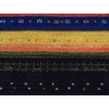 "Load image into Gallery viewer, 8'1""x9'9"" 100 Percent Wool Hand-Knotted Folk Art Gabbeh Oriental Rug FWR203910"