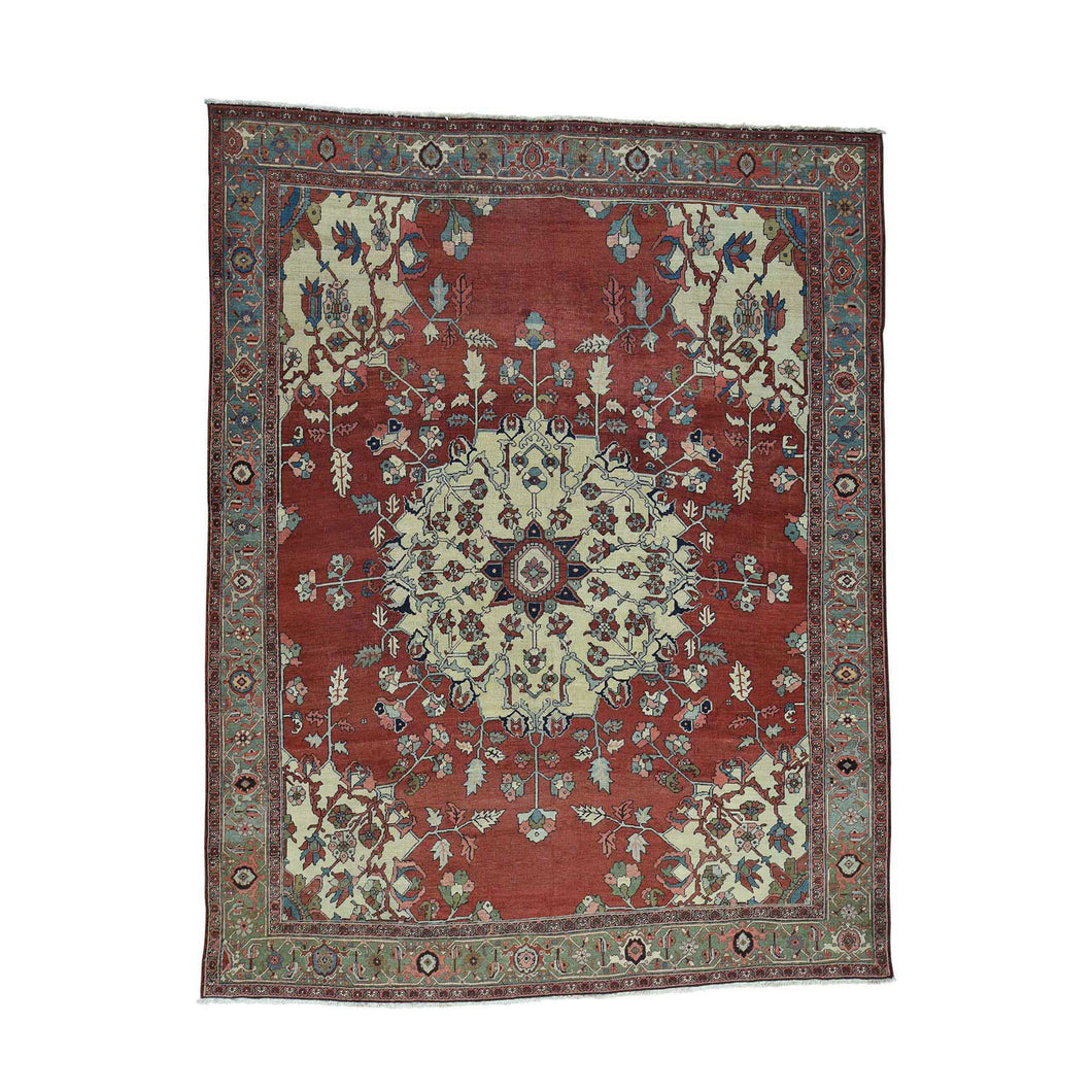 Handmade Antique Red Rug