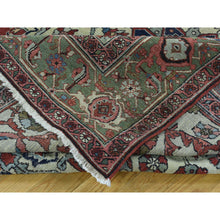 "Load image into Gallery viewer, 9'x11'3"" Hand-Knotted Antique Persian Serapi Open Field Oriental Rug FWR206550"