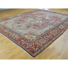 "Load image into Gallery viewer, 9'5""x12'8"" Hand-Knotted Antique Persian Serapi Good Cond Even Wear Rug FWR206556"