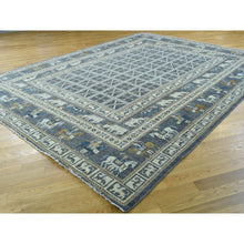 "Load image into Gallery viewer, 10'1""x12'9"" Hand-Knotted Antiqued Pazyryk Design Peshawar Oriental Rug FWR207594"