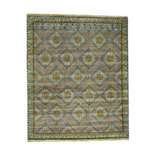 Load image into Gallery viewer, Handmade Tribal and Geometric Grey Rug