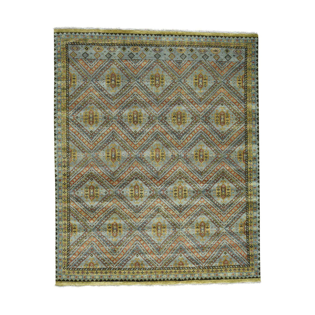 Handmade Tribal and Geometric Grey Rug