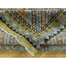 "Load image into Gallery viewer, 8'x9'9"" Hand-Knotted Qashqai Design Wool and Silk Oriental Rug FWR207792"